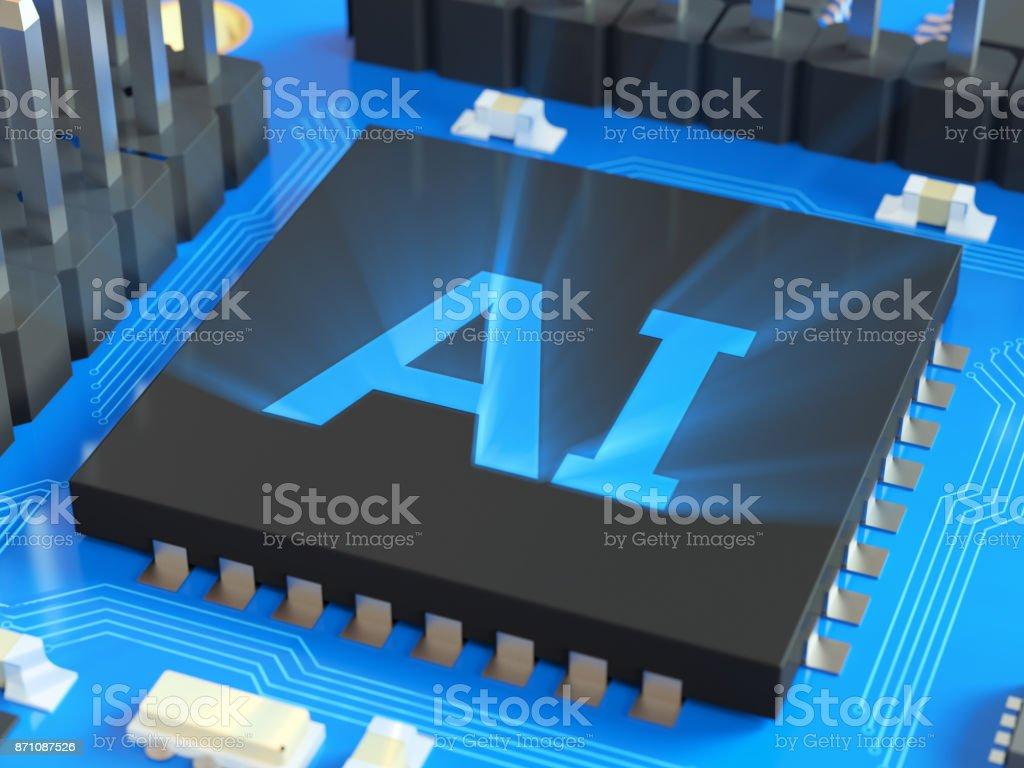 Ki (künstliche Intelligenz) geschrieben am CPU – Foto
