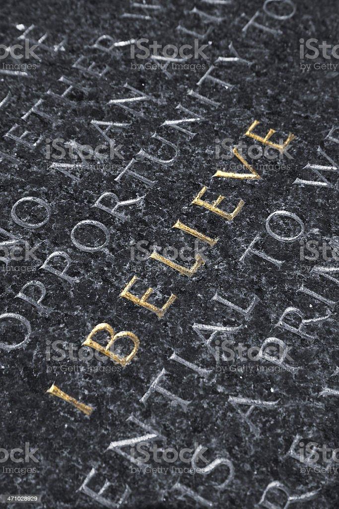 written on stone royalty-free stock photo