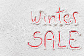 "Written ""Winter SALE"" on the snow"