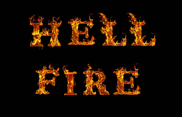 Royalty free hell fire written with burning letters in flame hell fire written with burning letters in flame pictures images and stock photos altavistaventures Images