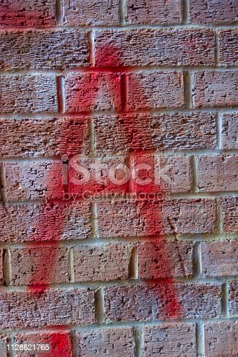 184953872istockphoto Written Wording in Distressed State Typography Found Letter A 1128621765