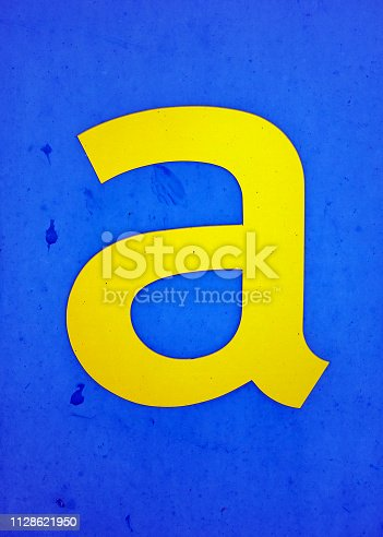 184953872istockphoto Written Wording in Distressed State Typography Found Letter A 1128621950
