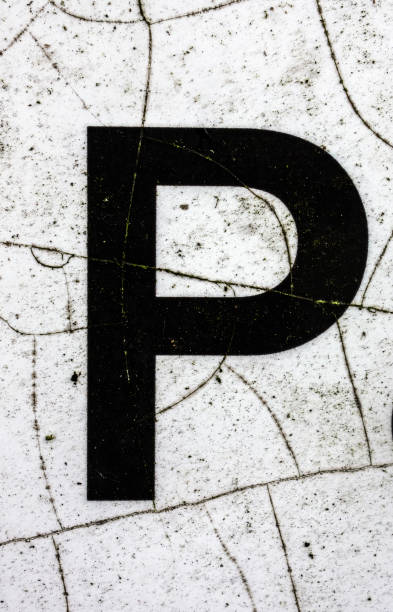 Written Wording in Distressed State Typography Found Letter P Written Wording in Distressed State Typography Found Letter letter p stock pictures, royalty-free photos & images