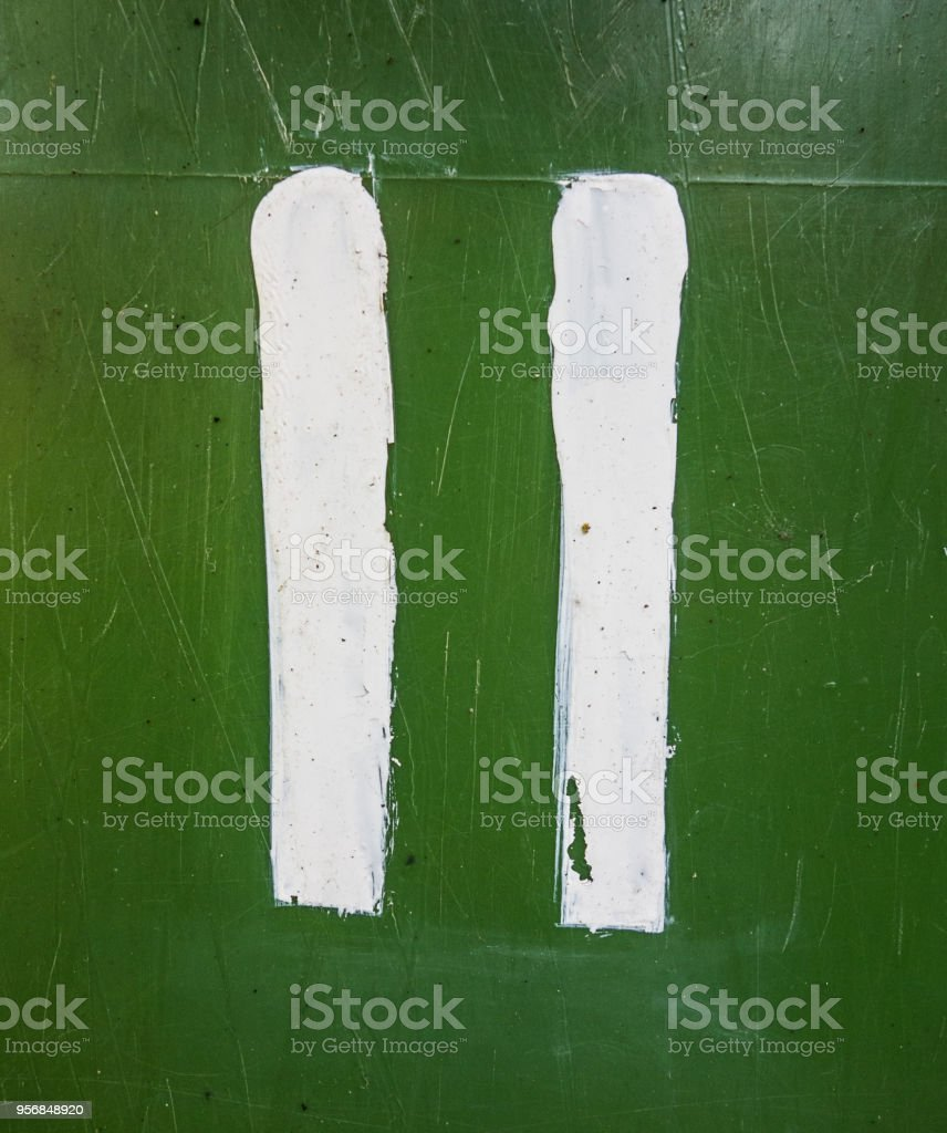 Written Wording in Distressed State Typography Found Number Eleven 11 stock photo