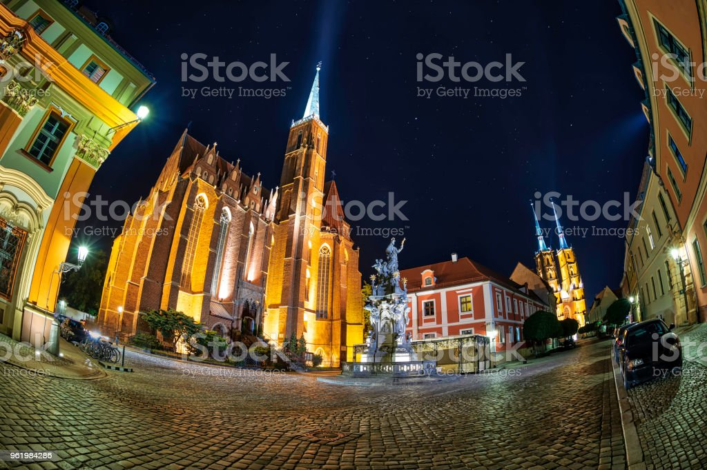 Wroclaw By Night Stock Photo - Download Image Now - iStock