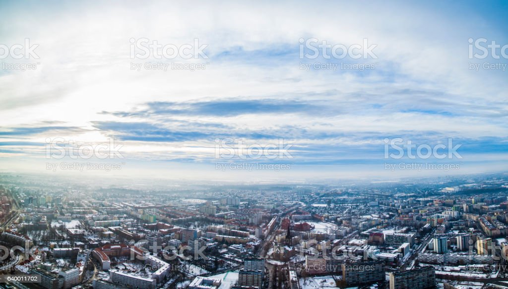Wroclaw city panorama stock photo