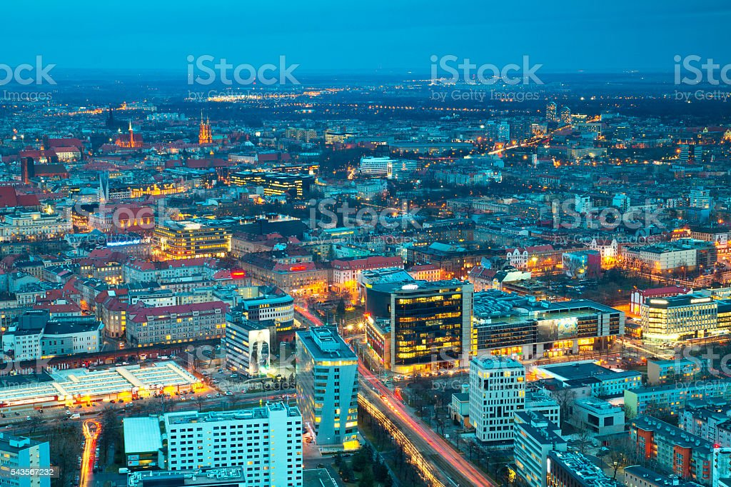 Wroclaw evening panorama of the city – Foto