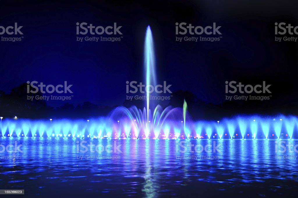 Wroclaw fountain show royalty-free stock photo