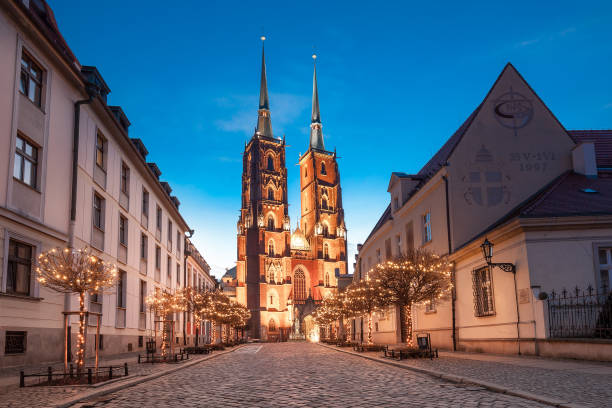 Wroclaw in Poland stock photo