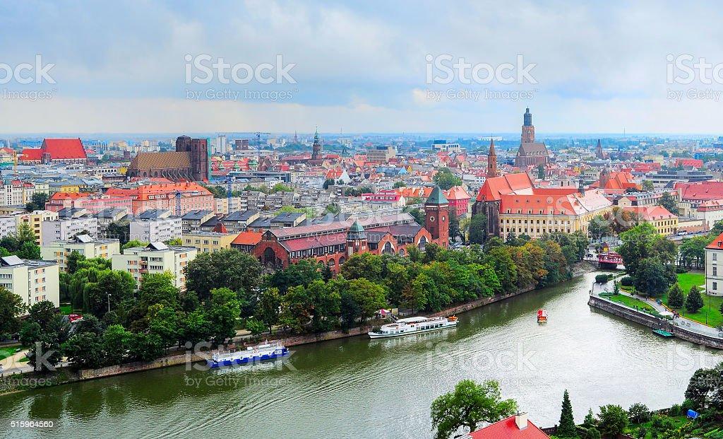Wroclaw Old Town skyline, Poland stock photo
