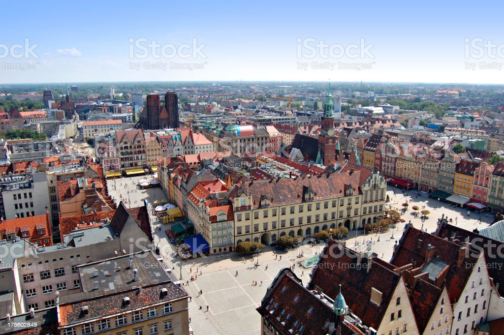 Wroclaw: the meeting place stock photo