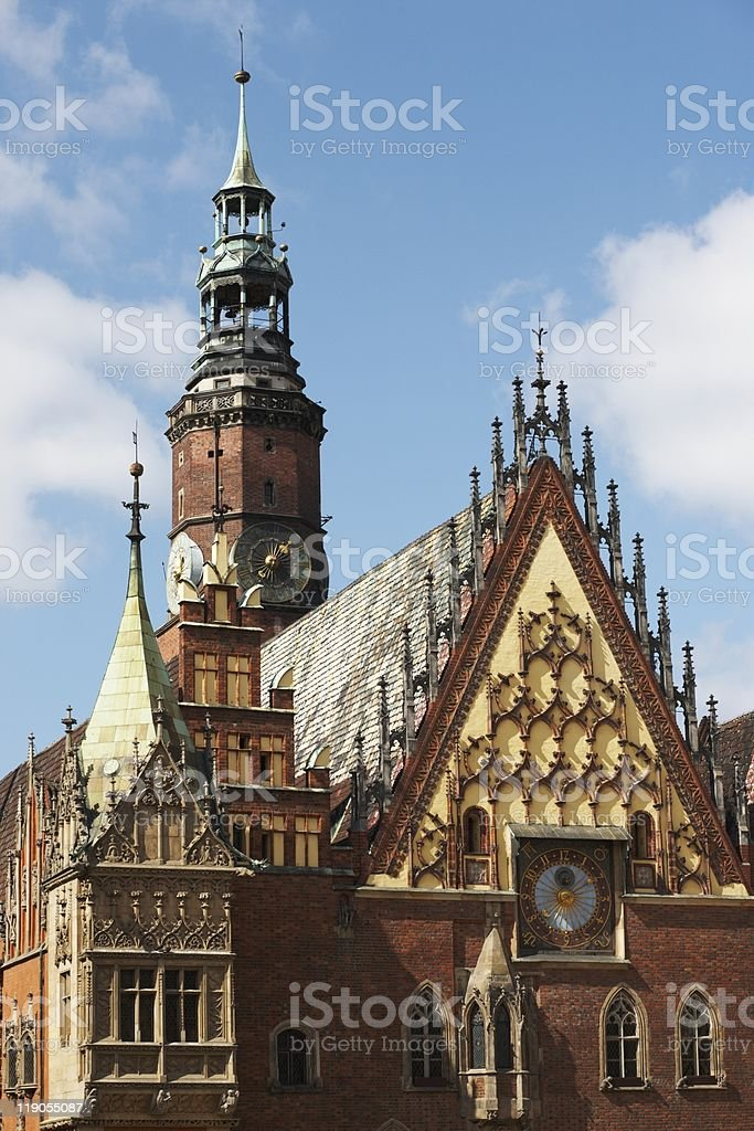 Wroclaw town hall royalty-free stock photo