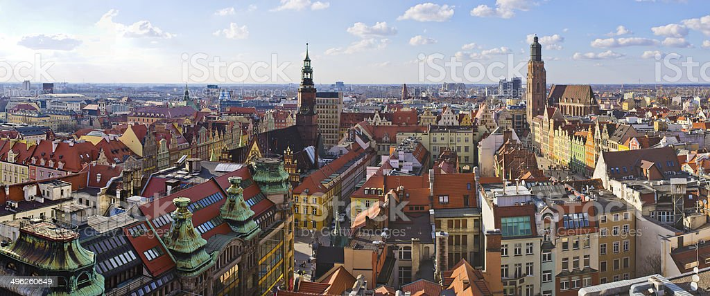 Wroclaw town square royalty-free stock photo