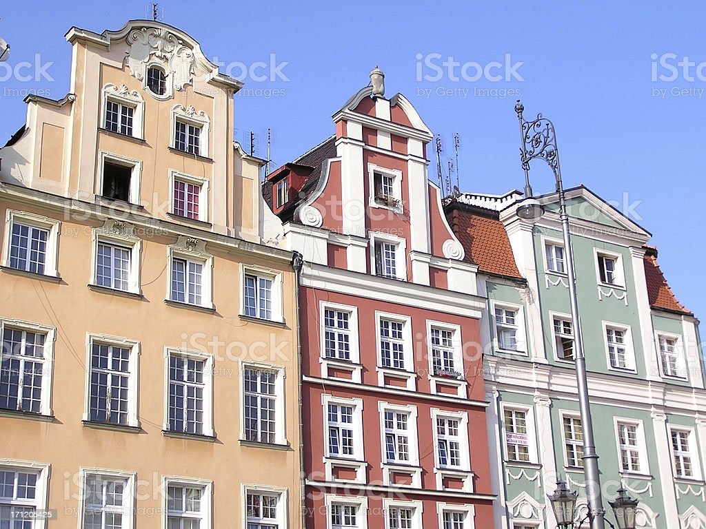 Wroclaw's tenements royalty-free stock photo