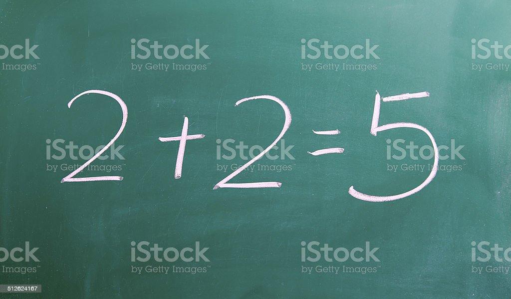 Falsche mathematical Lösung – Foto
