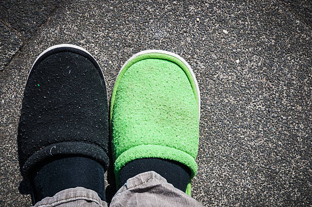 Wrong shoe stock photo