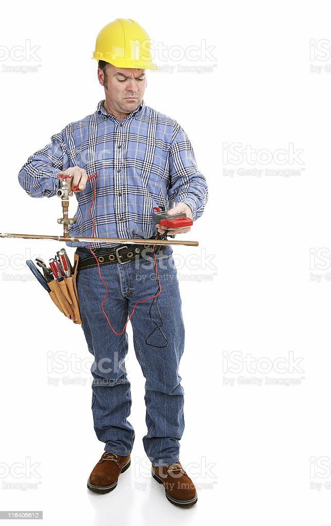 Wrong Tool For Plumbing royalty-free stock photo