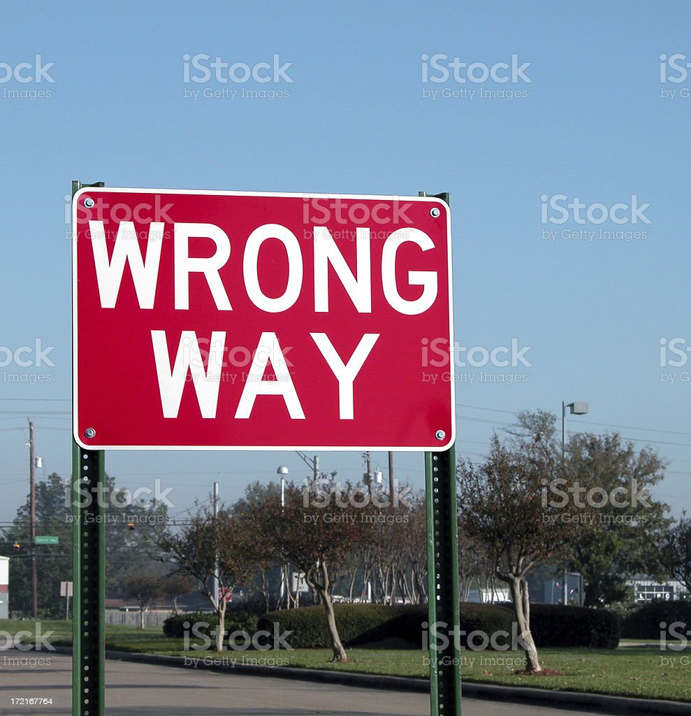 wrong way royalty-free stock photo