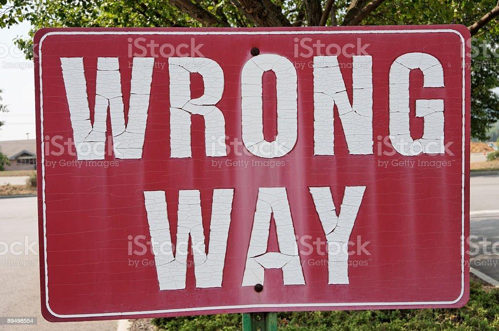 Wrong Way royalty free stockfoto