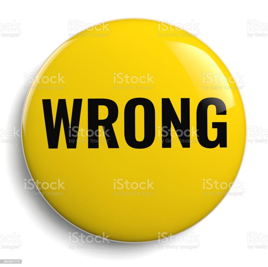 Errado símbolo redondo amarelo isolado - Foto de stock de Amarelo royalty-free