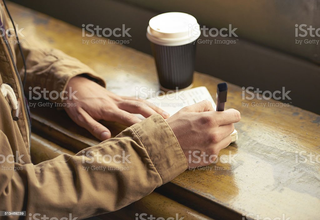 I wrote a letter to my love stock photo