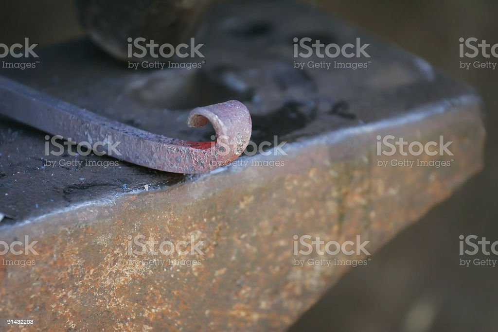 Wrought Iron and Anvil stock photo