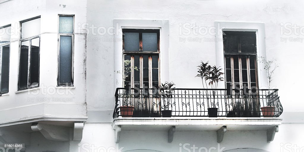 Wrought Iron Balconies stock photo