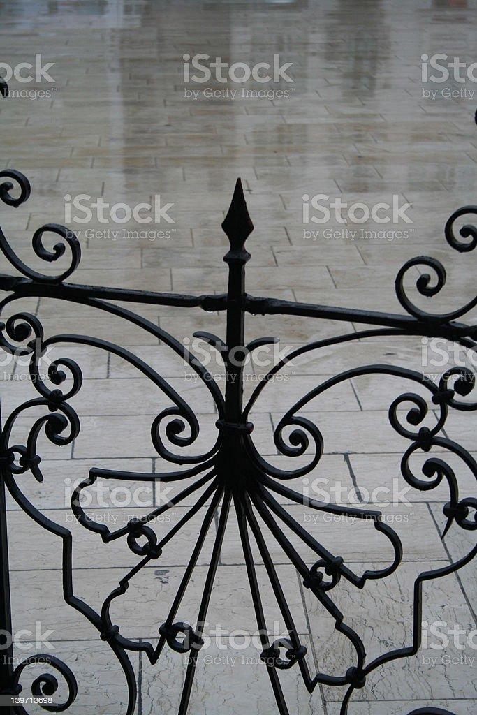 wrought iron belustrade royalty-free stock photo