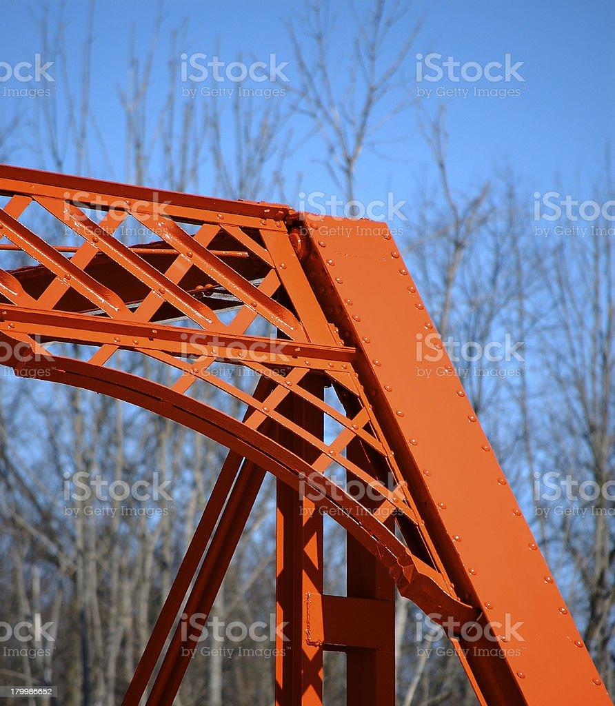 Wrought iron bridge, right side detail royalty-free stock photo