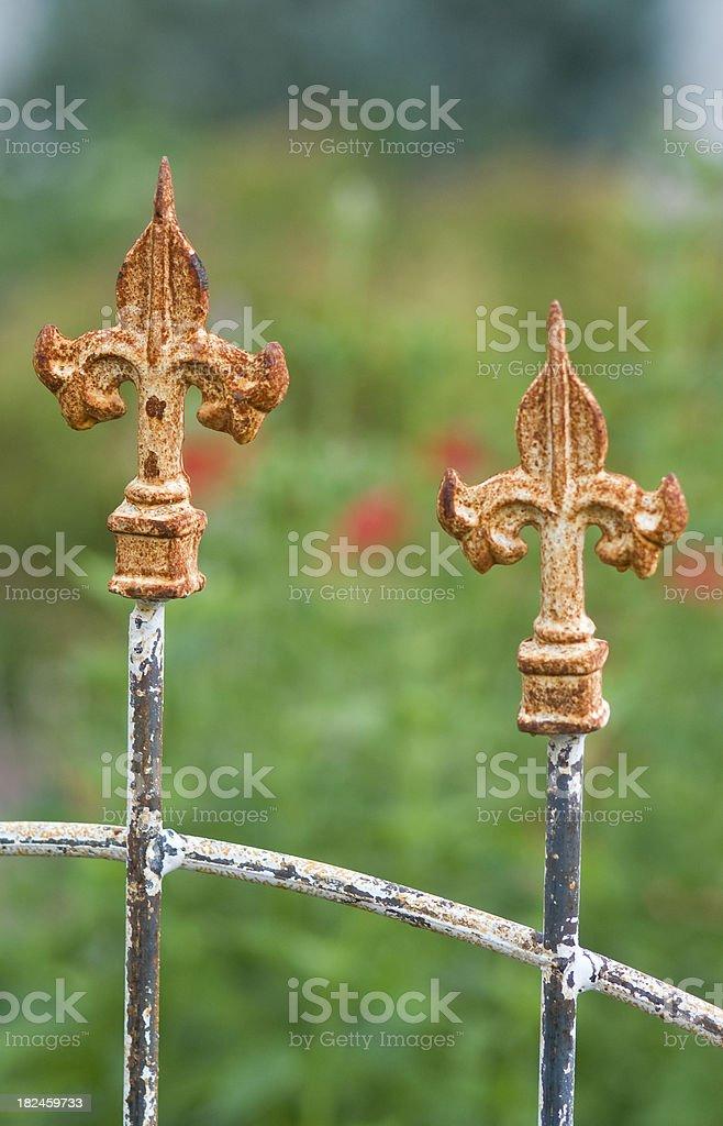 De hierro forjado puerta valla foto de stock libre de derechos