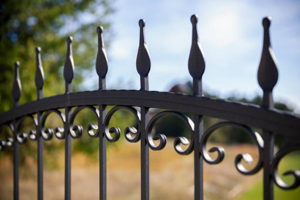 Schmiedeeisernen Zaun – Foto