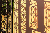 Wrought Iron Gate And Its Shadow