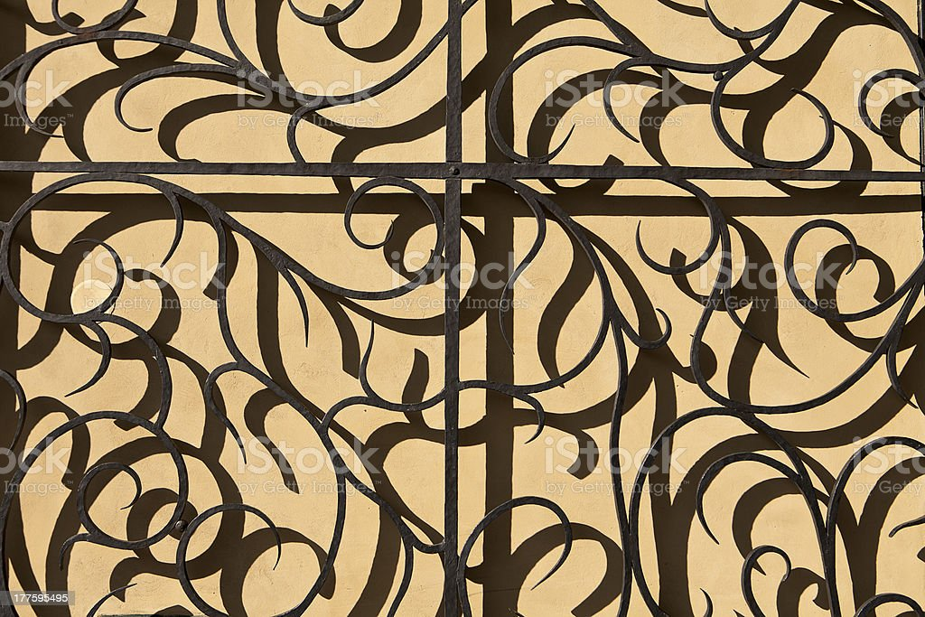 Wrought Iron Gate And Shadow royalty-free stock photo