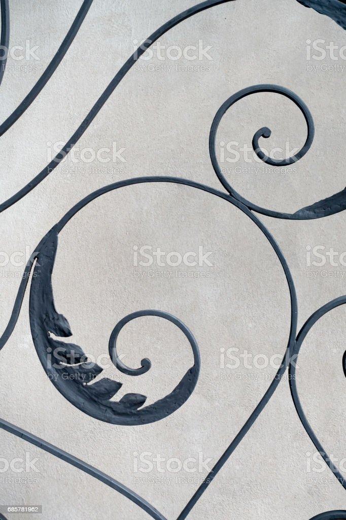 Wrought Iron Gate Detail royalty-free stock photo