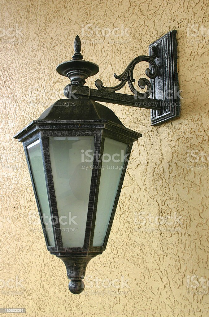 Wrought Iron Lamp royalty-free stock photo