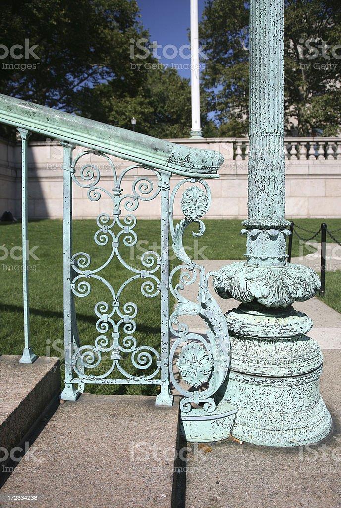 Wrought Iron Railing royalty-free stock photo