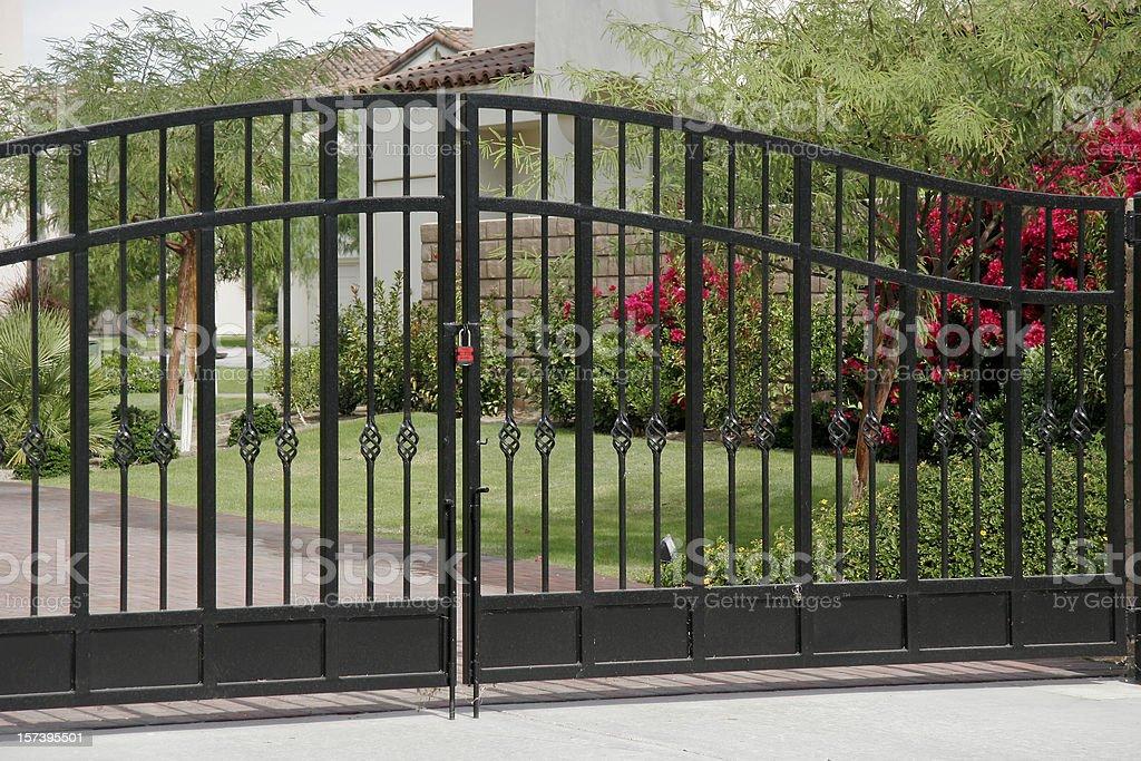 Wrought Iron Security Gates royalty-free stock photo
