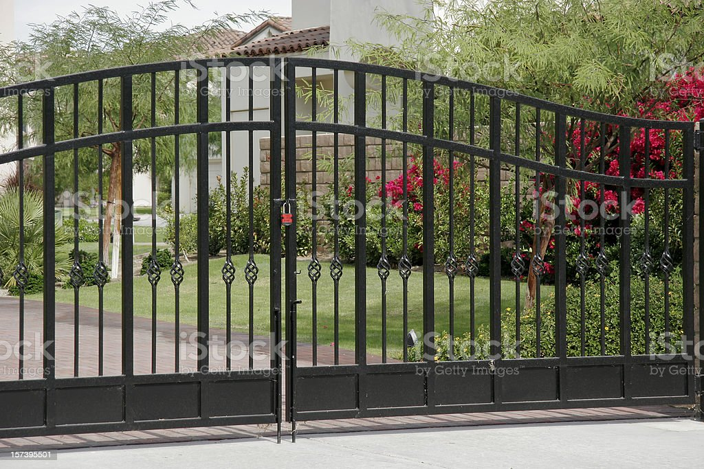 Wrought Iron Security Gates stock photo