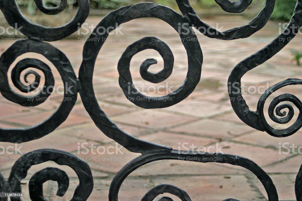 Wrought Iron Swirls royalty-free stock photo
