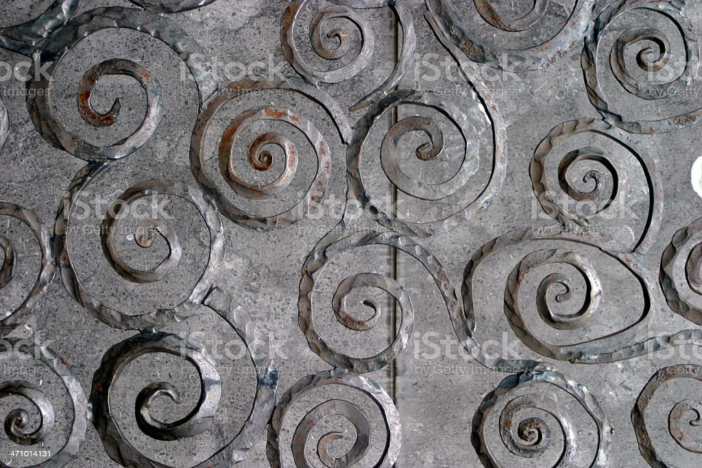 Wrought Iron Swirls stock photo