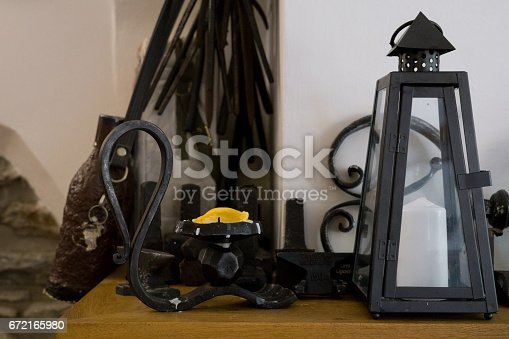 istock Wrought metal decoration. 672165980