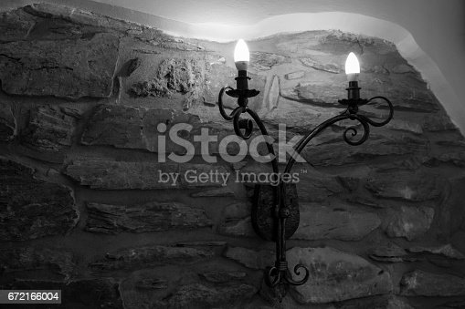 istock Wrought metal decoration. 672166004