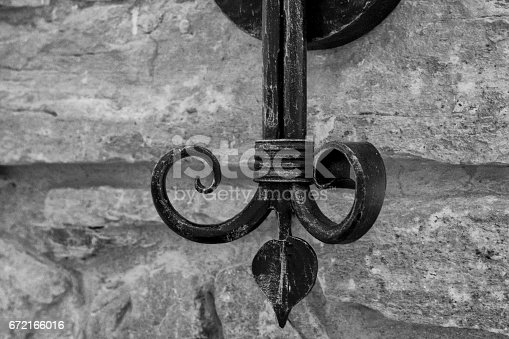 istock Wrought metal decoration. 672166016