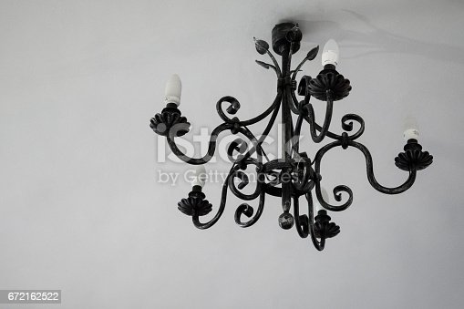 istock Wrought metal lamp decoration. 672162522