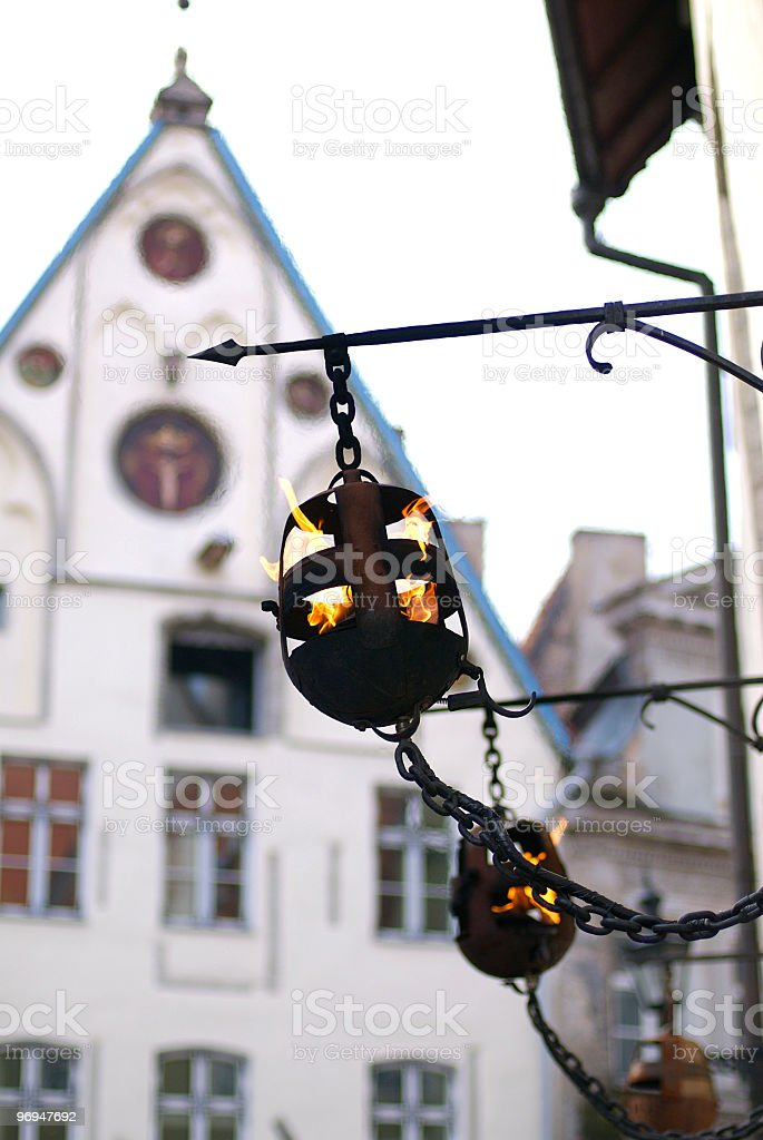 Wrought-iron shop facade furniture, Tallinn, Estonia royalty-free stock photo