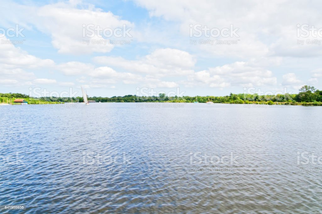 Wroxham Broad, Near Wroxham, Norfolk, England stock photo