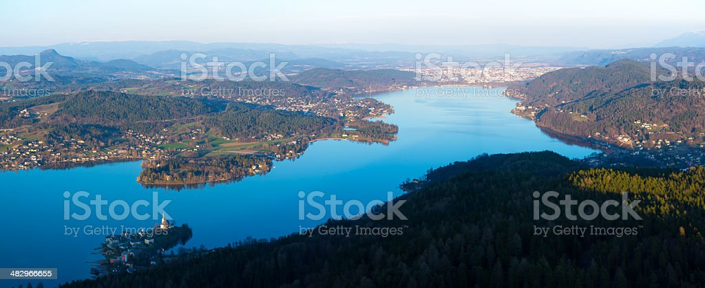 Wörthersee in Kärnten stock photo