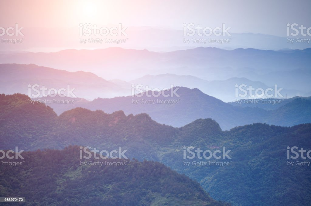 Wudang mountains stock photo