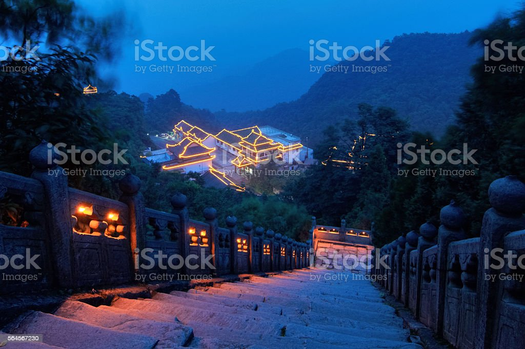 Wudang Temple stock photo