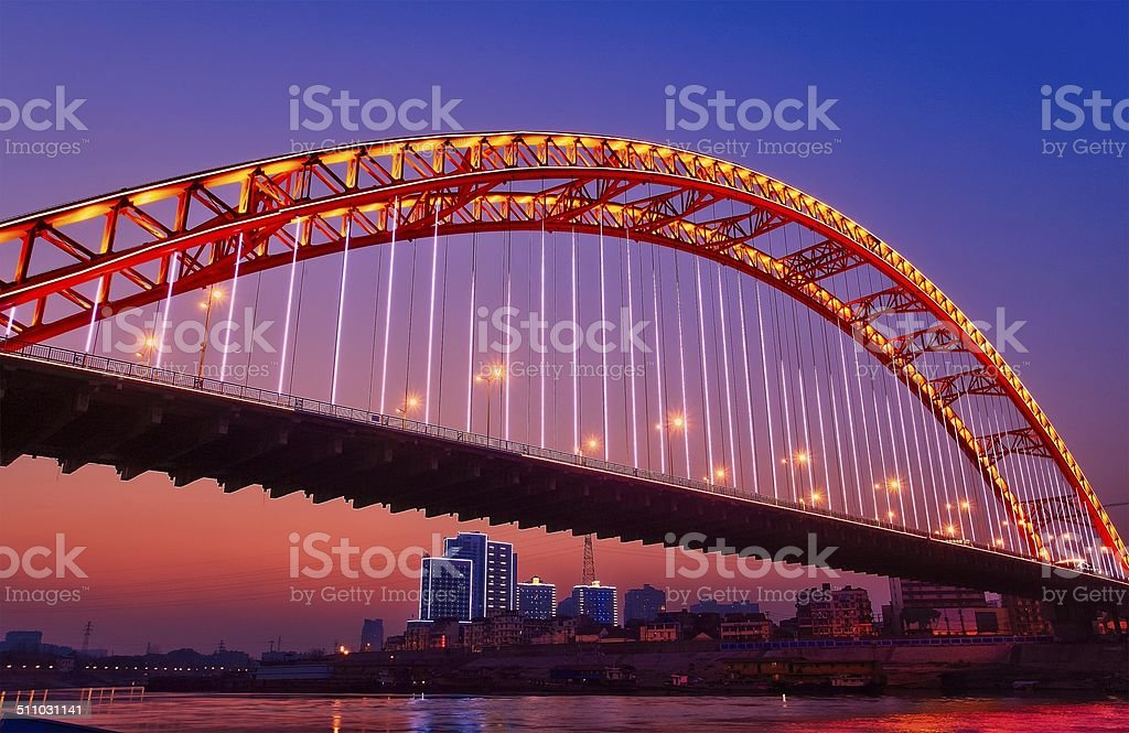 WuHan Arch bridge stock photo